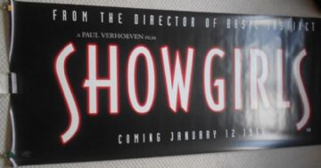 Showgirls, Original Adv Huge Banner, Elizabeth Berkley, '95